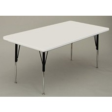 "Anti-Microbial Blow-Molded Activity Table - 30x72"" - Gray Granite"