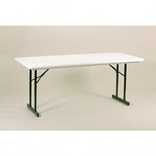 Heavy Duty Blow-Molded Folding Table with T-Leg - 30x96 - Gray Granite