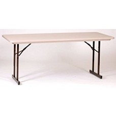 Heavy Duty Blow-Molded Folding Table with T-Leg - 30x72 - Mocha Granite