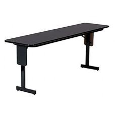 "3/4"" High Pressure Folding Seminar Table with Panel Leg - 18x96"" - Fusion Maple"