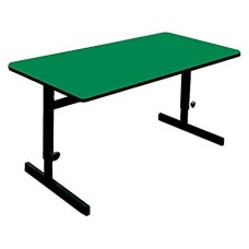 "Adjustable Height 1 1/4"" High Pressure Top Computer/Training Tables  - 30x72"" - Green"