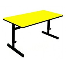 "Adjustable Height 1 1/4"" High Pressure Top Computer/Training Tables  - 30x48"" - Yellow"