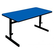 "Adjustable Height 1 1/4"" High Pressure Top Computer/Training Tables  - 30x72"" - Blue"