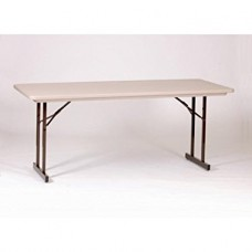 Heavy Duty Blow-Molded Folding Table with T-Leg - 30x96 - Mocha Granite