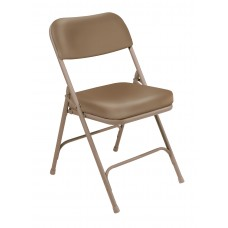 """Beige 2"""" Vinyl Upholstered Seat Folding Chairs Carton of 2"""