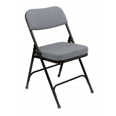 """Charcoal Grey 2"""" Fabric Upholstered Seat Folding Chairs Carton of 2"""