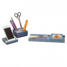 Splash™ Multi-Colored Wood Desk Set - Blue
