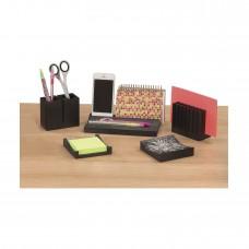 Wood Desk Organizer Set - Black
