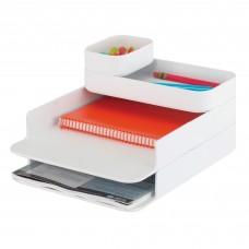 Stacking Plastic Desktop Sorter Set - White