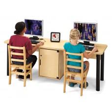 Jonti-Craft® Dual Computer Lab Table
