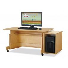 Jonti-Craft® Apollo Single Computer Desk - Maple Top