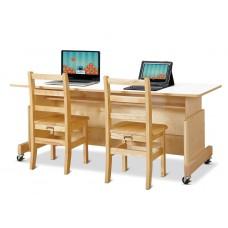 Jonti-Craft® Apollo Double Computer Desk - White Top