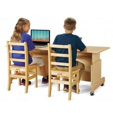 Jonti-Craft® Apollo Double Computer Desk - Maple Top