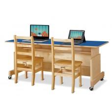Jonti-Craft® Apollo Double Computer Desk - Blue Top