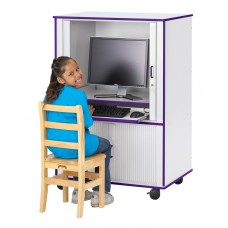 Rainbow Accents® Euro-Computer Cabinet - Blue