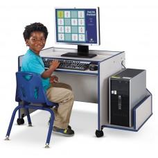 Rainbow Accents® Enterprise Single Computer Desk - Blue