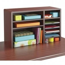 "29""W Compact Desk Top Organizer - Mahogany"