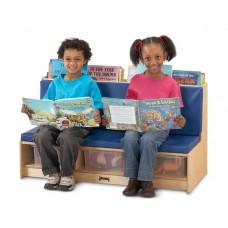 Jonti-Craft® Literacy Couch - Blue
