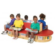 Jonti-Craft® Read-a-Round 3 Piece Set - Red