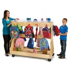 Jonti-Craft® Mobile Backpack Cart – with Clear Cubbie-Trays