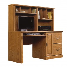 Orchard Hills Comp Desk w/Hutch - Carolina Oak