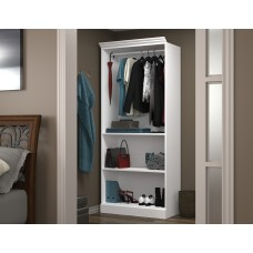 "Versatile by Bestar 36"" Closet storage shell in White"