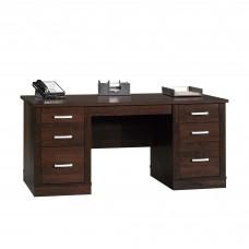 Office Port Executive Desk - Dark Alder