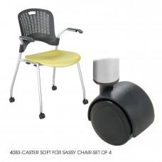 Soft Caster for Sassy® Chair-Set of 4 - Black