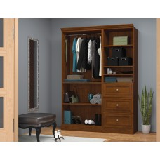 Versatile by Bestar 61'' Storage kit in Tuscany Brown