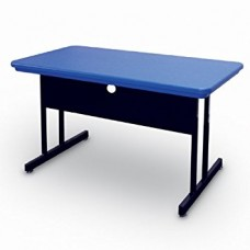 "Blow-Molded Plastic Top Computer/Training Tables - 30x60"" - Blue"
