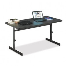 "Adjustable Height 1 1/4"" High Pressure Top Computer/Training Tables  - 30x72"" - Red"