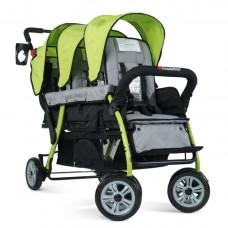The Trio Sport™ Triple Tandem Stroller - Lime - N/A
