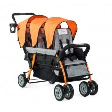 The Trio Sport™ Triple Tandem Stroller - Red - N/A