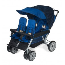 The LX4™ 4-Passenger / Dual Canopy Folding Stroller - Regatta - N/A