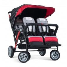 The Quad Sport™ 4-Passenger Stroller - Red - N/A