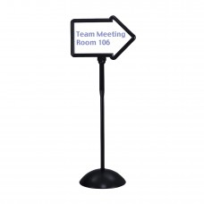 Write Way® Directional Sign - Black