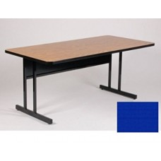 "Keyboard Height 1 1/4"" High Pressure Top Computer/Training Tables  - 24x60"" - Blue"