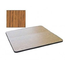 """Bar & Cafe Table Parts-TOP ONLY - 24"""" Square - Medium Oak"""