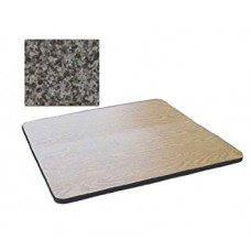 """Bar & Cafe Table Parts-TOP ONLY - 24"""" Square - Black Granite"""