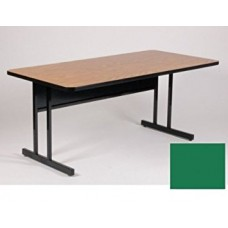"Keyboard Height 1 1/4"" High Pressure Top Computer/Training Tables  - 24x60"" - Green"