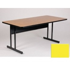 "Keyboard Height 1 1/4"" High Pressure Top Computer/Training Tables  - 24x36"" - Yellow"