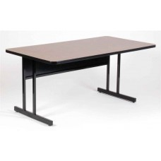 "Keyboard Height 1 1/4"" High Pressure Top Computer/Training Tables  - 30x72"" - Yellow"