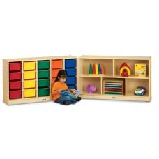 Jonti-Craft® E-Z Glide 20 Cubbie-Tray Fold-n-Lock - with Colored Trays