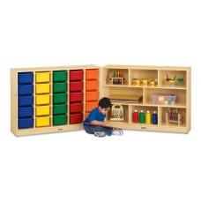 Jonti-Craft® E-Z Glide 25 Cubbie-Tray Fold-n-Lock - with Colored Trays