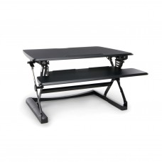 OFM Height Adjustable Sit-to-Stand Desktop Riser with Keyboard Tray, Black