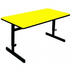 "Adjustable Height 1 1/4"" High Pressure Top Computer/Training Tables  - 24x36"" - Yellow"