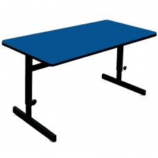 "Adjustable Height 1 1/4"" High Pressure Top Computer/Training Tables  - 24x36"" - Blue"