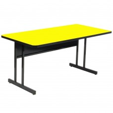 "Keyboard Height 1 1/4"" High Pressure Top Computer/Training Tables  - 24x48"" - Yellow"