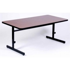 "Adjustable Height 1 1/4"" High Pressure Top Computer/Training Tables  - 24x60"" - Cherry"