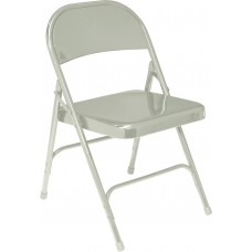 Grey Standard All-Steel Folding Chairs Carton of 4